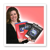 Girl Holding Brochures